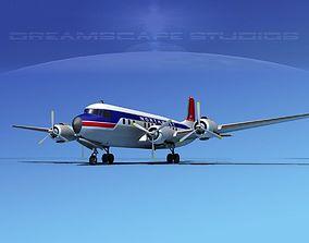 Douglas DC-7B Northwest Airlines 3D model