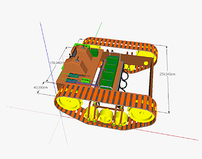 AT traction engine EM 3D