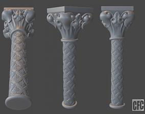 Goth Column - 3d model for CNC - GothColumnCFC06
