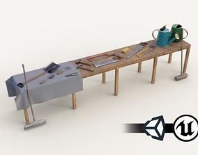 PBR Assets - Farm Tools 3D model realtime