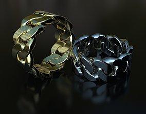 3D print model Cuban link ring fashionjewelry