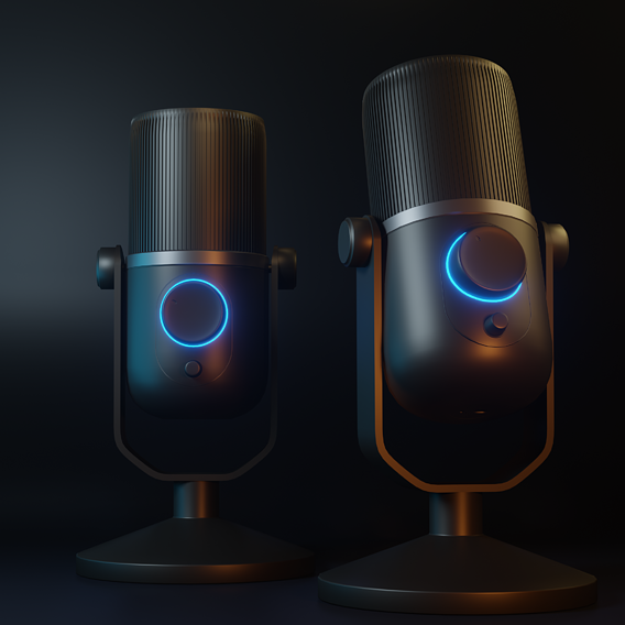 Microphone from XYZ tutorial for Blender