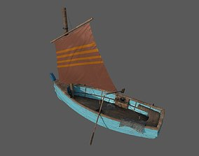 Wooden Fisher Boat 3D