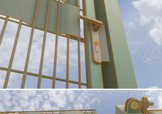 Modular Fence and Door Construction-Set