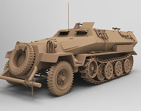 3D model ww2 sdkfz 251 HighPoly transport Vehicle