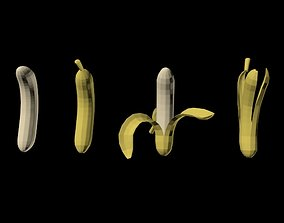 3D model Bananas 01
