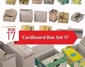 Cardboard box set 17 3D model