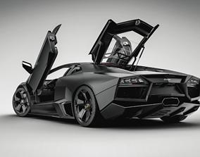 3D model animated Lamborgini Aventador