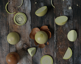 realtime Low Poly Onion photorealistic 3d model scene
