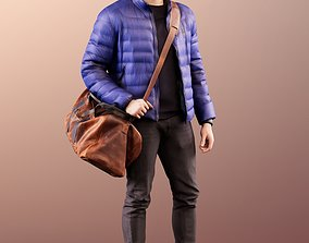 3D 11584 Kilian - man standing warm clothes with leather