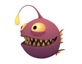 Angler Fish mascot 3D