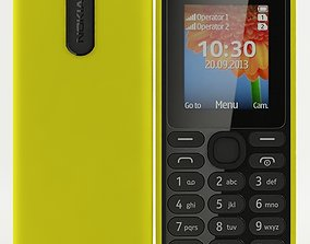 3D model Nokia 108 Dual SIM Yellow