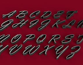 VLADIMIR font uppercase and lowercase 3D letters STL file