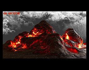 Lava Rock 3D asset