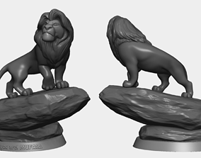 Mufasa - The Lion King statue 3D Print - No supports