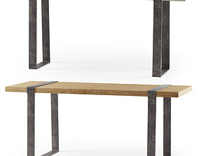 3D model Wang console and dining table