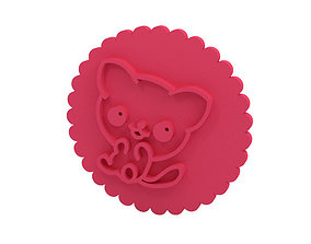 Cookie stamp - Stamp kitty 3D print model
