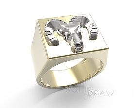 Ring Dodge logo Ring 3D print model