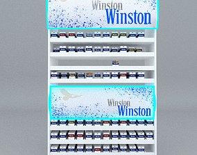 3D asset cigarette stand Winston