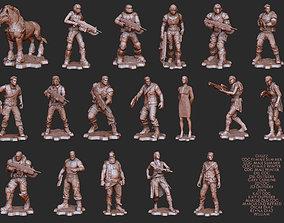 Character Set Gears of War 4 3D Model STL File 3D Print