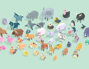 3D asset Quirky Series - Animals Mega Pack