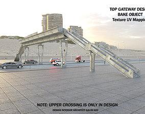 Pedestrian Overpass Concrete 3d Model realtime