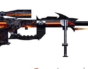 3D Gun Cheytac Diablo Hand painted