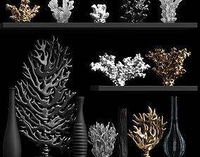 3D model A decorative set of corals and vases consisting 2