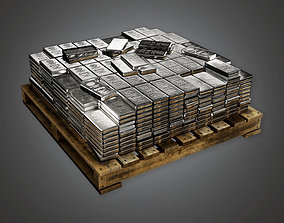 3D model BHE - Bank Silver Stack - PBR Game Ready