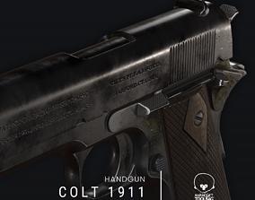 Colt 1911 3D asset low-poly