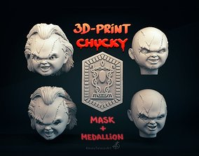 game Chucky mask 3D print model