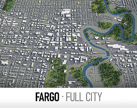 3D model realtime Fargo - city and surroundings