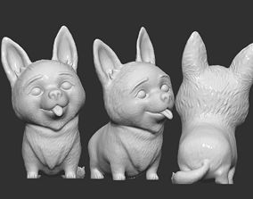 3D printable model Corgi Dog