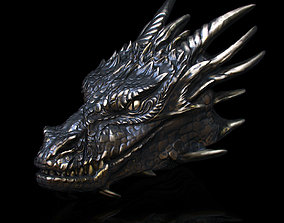 Dragonhead pendant 3D printable model creature