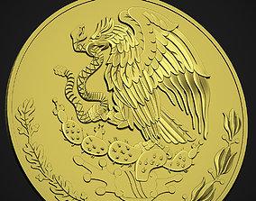 Mexican Eagle Coin 3D print model