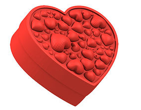 Box Cascade of Hearts 3D printable model