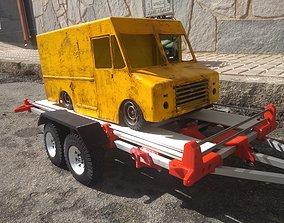 3D printable model Trailer for crawler or rc car