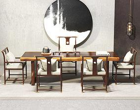 Neo-Chinese Tea house Interior Scene 244 3D model
