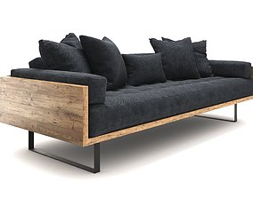 Reclaimed Wood Sofa 3D model