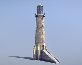 Stone Fort Lighthouse 3D asset