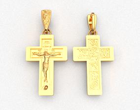 Cross ortodox 3D print model christ faith