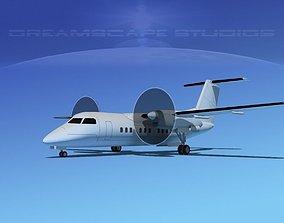 De havilland Canada DHC-8-100 LP SS 3D model