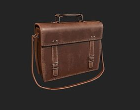 Leather Satchel - Leather Bag - Leather Luggage 3D asset