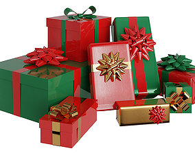 Presents And Gift Boxes2 BLENDER 3D Model Cycles