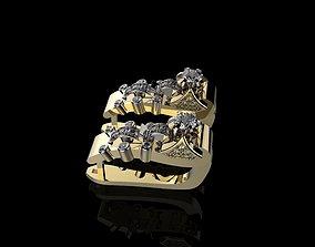 J EARRINGS N309 3D printable model
