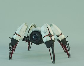 Cyberpunk spider rigged 3D model
