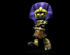 Pharaoh Game Character RIGGED 3D Hand-painted animated 2