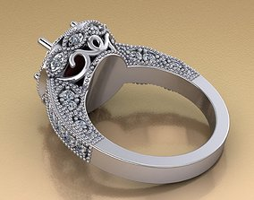 3D print model Engagement ring with Ash holder