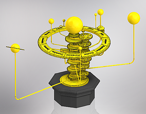 Solar System Orrery 3D printable model