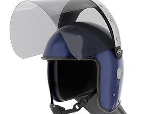 3D model Police Riot Helmet with Glass Visor